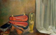 Mémoire d'un Son Inaudible - huile sur toile 060 x 076 - 1998